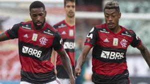 Gerson e Bruno Henrique Reprodução site do Flamengo